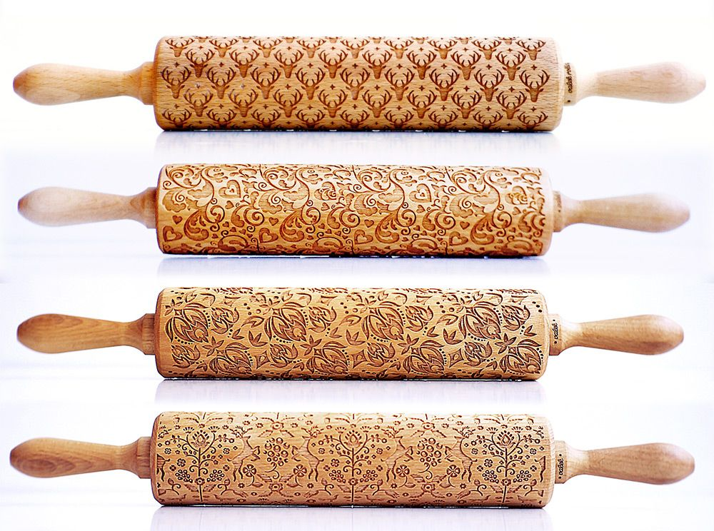 embossing rolling pin laser engraved rolling pin DOTS small rolling pin