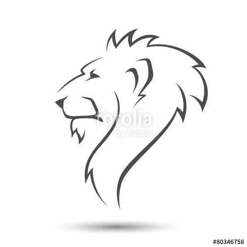 Vector: Lion head | The King | Pinterest | Lions, Tattoo ... Simple Lion Designs