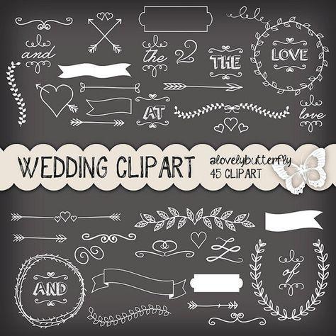 Tafel Hochzeit Lorbeer Clipart, Hochzeit Einladung Digital, Vintage  Hochzeits Cliparts,