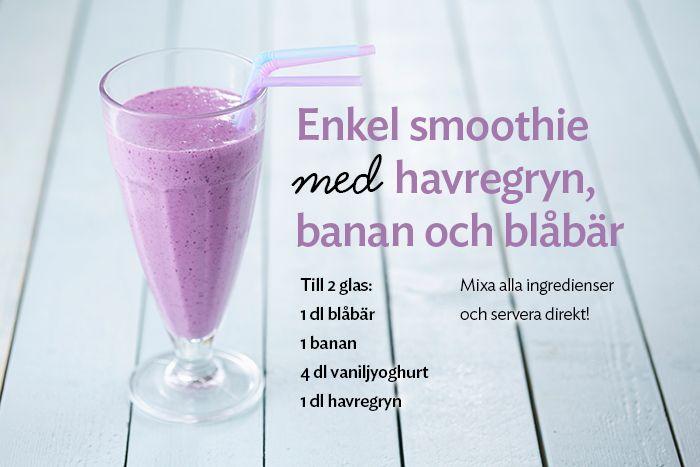 smoothie recept havregryn