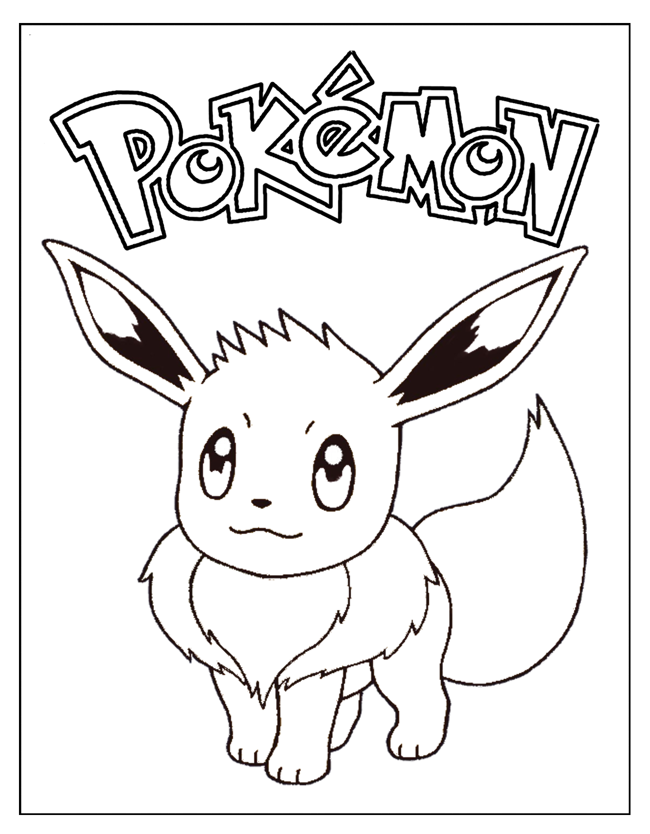 Pokemon Eevee Coloring Page Coloring Pages Pokemon Eevee Coloring Books
