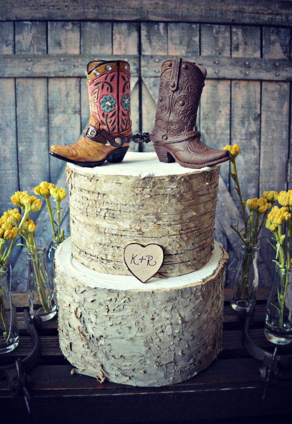 93f4b463b3d Too cute! Western-boots-wedding-cake by MorganTheCreator on Etsy ...
