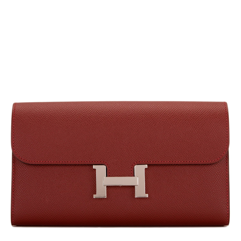 a703126164da Hermes  Constance Long  Wallet Rouge H Epsom Palladium Hardware ...
