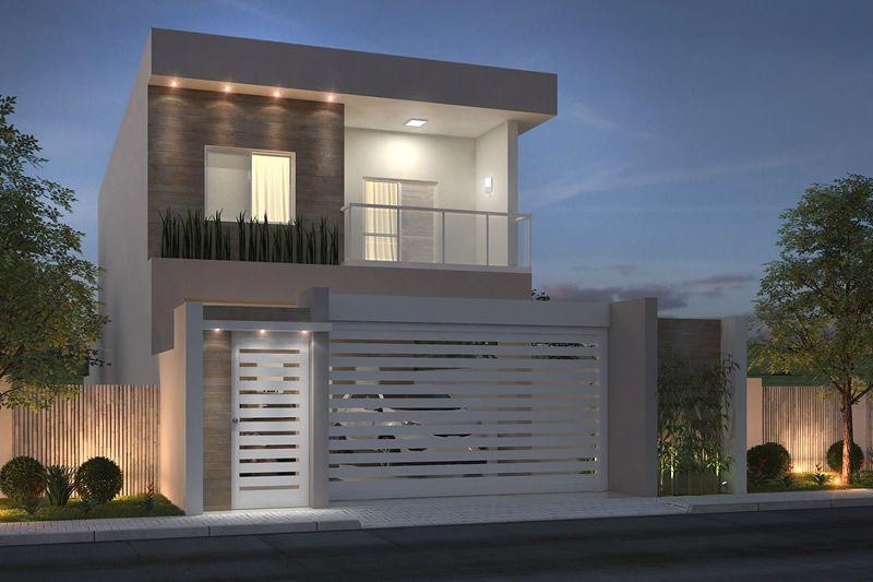 Planta de sobrado com 3 quartos ideas azlop pinterest fachadas casas y fachada de casa - Pisos azpeitia ...