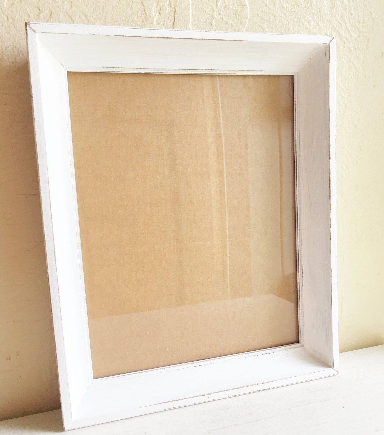 Shabby Chic White Wood Picture Frame 8 X 10 With