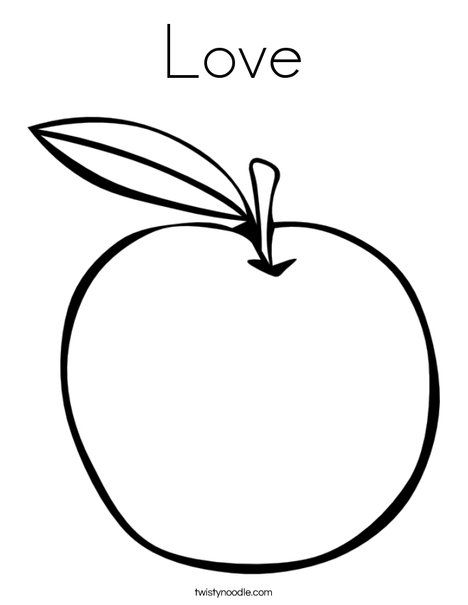 Fruit Of The Spirit Love Apple Coloring Pages Love Coloring