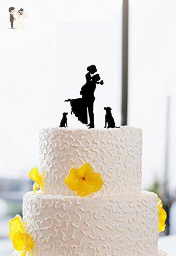 Vintage wedding cake toppers bride and groom with 2 dogwedding vintage wedding cake toppers bride and groom with 2 dogweddingbridal shower junglespirit Gallery