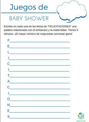 Juegos Para Baby Shower Plantillas Para Imprimir Keldrick Baby
