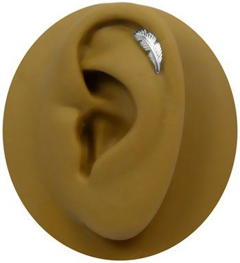 Amazon.com: *18 gauge Left Ear Feather Cartilage Earring