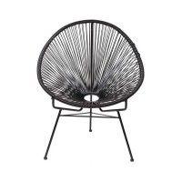 Stoel Caminha Zwart Acapulco Chair Lounge Chair Outdoor Garden Lounge Chairs