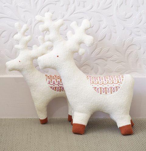 Reindeer Scandinavian Embroidery Felt Christmas Ornaments Free Christmas