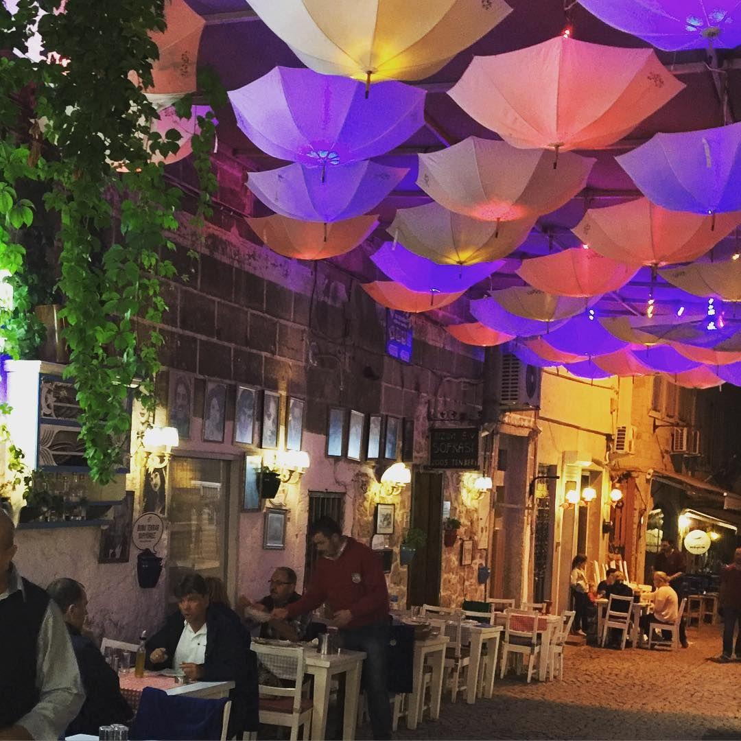 alacati alfresco restaurant in the cobbled streets restaurants