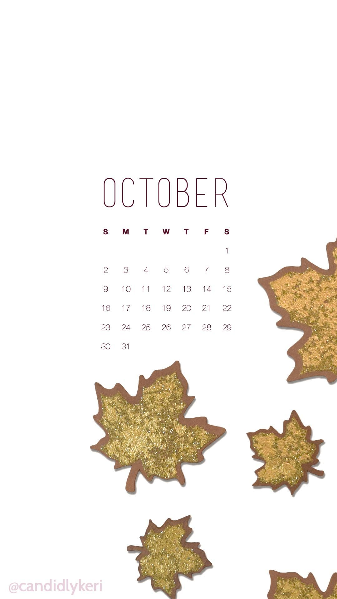 October Gold Leaf Calendar 2016 Wallpaper You Can Download For Free On The Blog For Any Device Mobile Desktop Iphone Android Avec Images Fond Ecran Calendrier