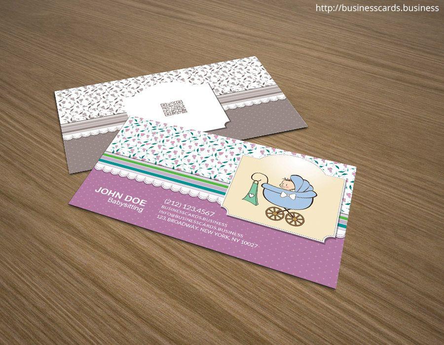 Visitenkarten Für Baby Als Auch Probe Babysitting