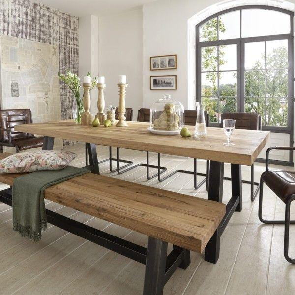 eine neuer stern am himmel esstisch eiche stahl industry mit tischplatte im farbton bleech. Black Bedroom Furniture Sets. Home Design Ideas