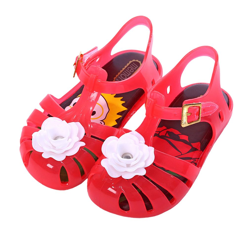 Mini memon sandals for girls rose flower style girl shoes jelly cheap girls sandals buy quality flower girl shoes directly from china kids gladiator suppliers children shoes rose flower girls shoes candy color girls izmirmasajfo Images