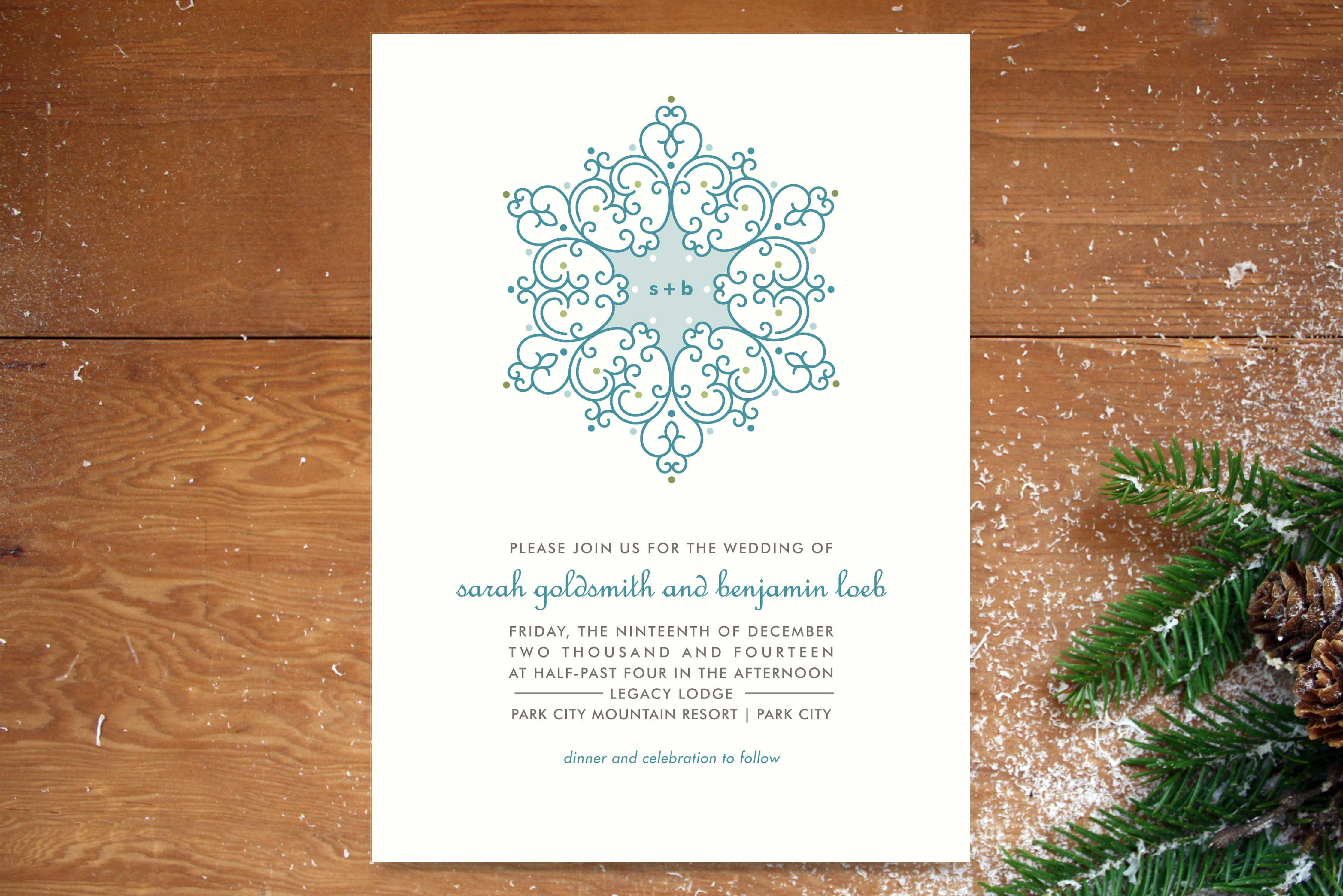 Gorgeous Invitation Suites Ideal for Winter Weddings | Winter ...