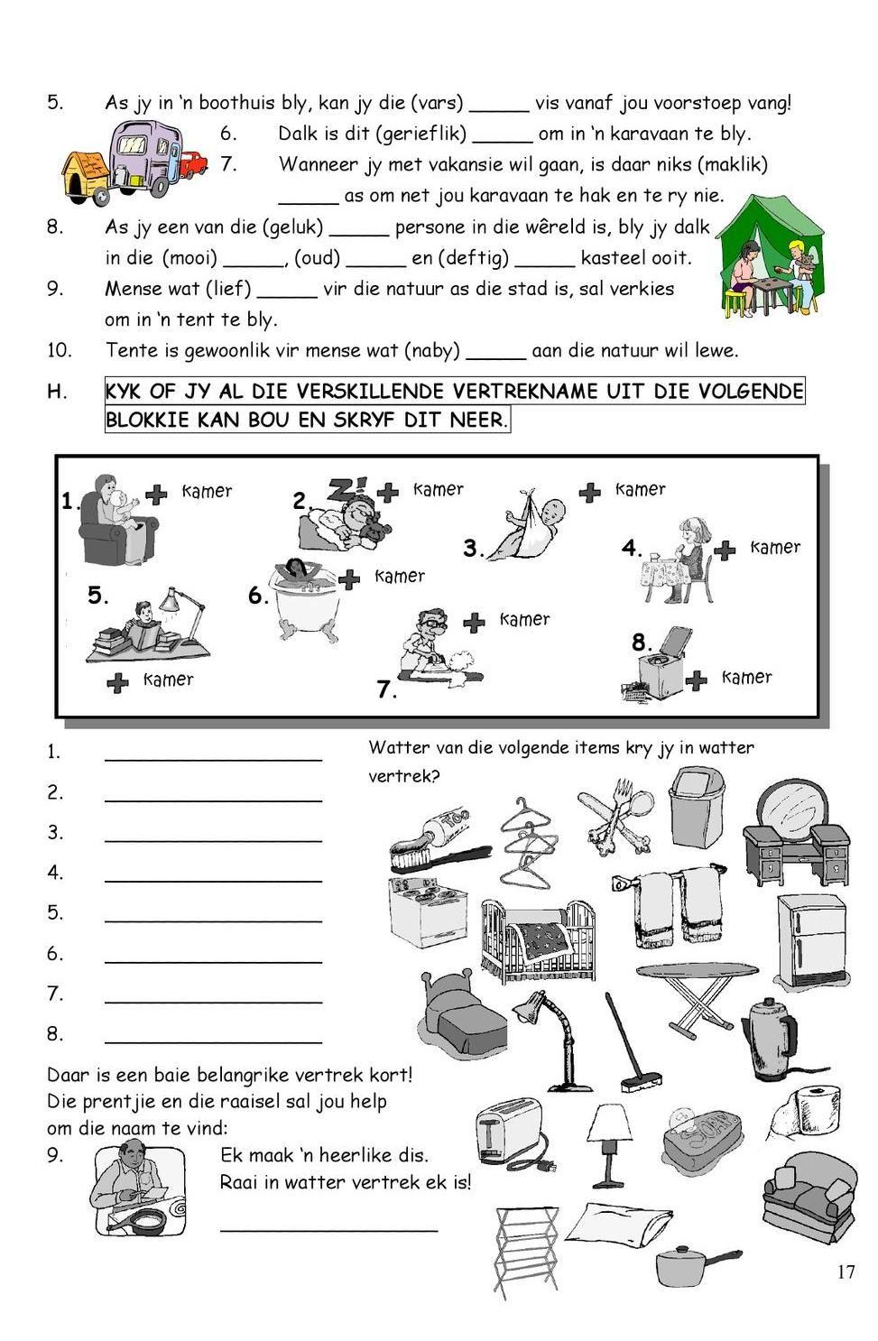 SkerpmakerB3 Afrikaans, Afrikaans language, School readiness