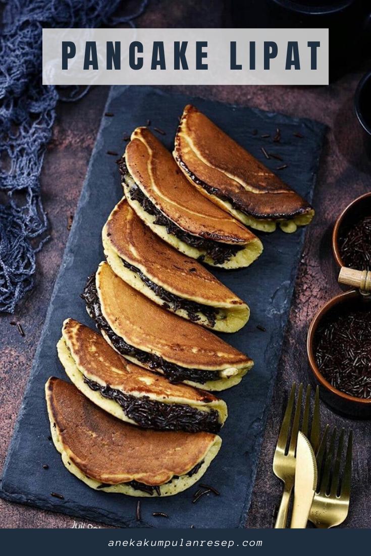 Pancake Lipat Isi Coklat Ide Makanan Resep Cemilan