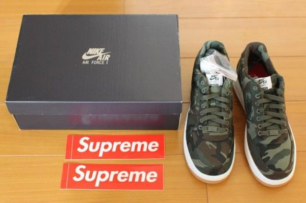 best service 53788 405c3 SUPREME X NIKE AIR FORCE 1 ONE AF1 CAMO CAMOUFLAGE  Sneakers