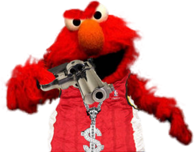 gangster elmo - ready to bust a cap! | Love It ...