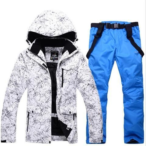 9aba8884e4 Winter Jacket+Pants Snowboard Men Waterproof Windproof  ski Jacket Climbing Thermal  Snow Outdoor Ski Set