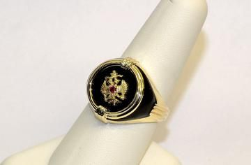 10k Yellow Gold Men S Black Onyx Polished Eagle Ring Price 299 00 Items Remaining 1 Gold Silver Gold Silver