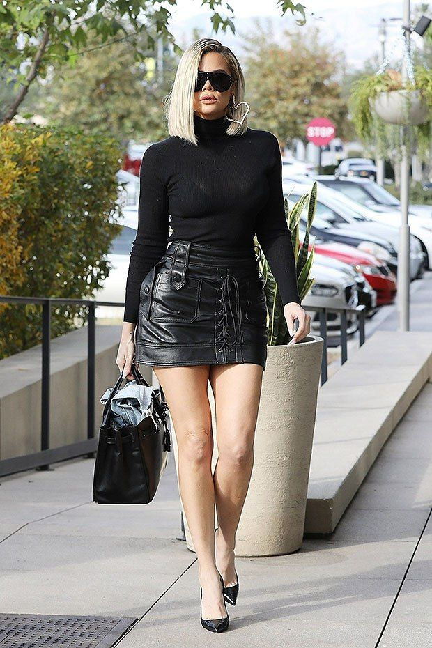 Khloe Kardashian, 35, Sizzles In Sheer Top & Leather Mini Skirt After Reuniting With Tristan Thompson