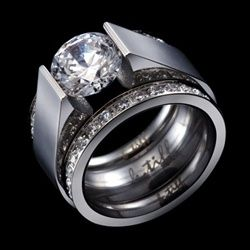 Btiff Com 529 Rg093r Rg111r 2 Stainless Steel Rings Featured Jewelry Jewelry