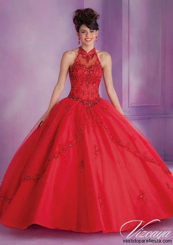 Vestidos de xv años color rojo moda 2014 \u2013 05 , https//vestidoparafiesta
