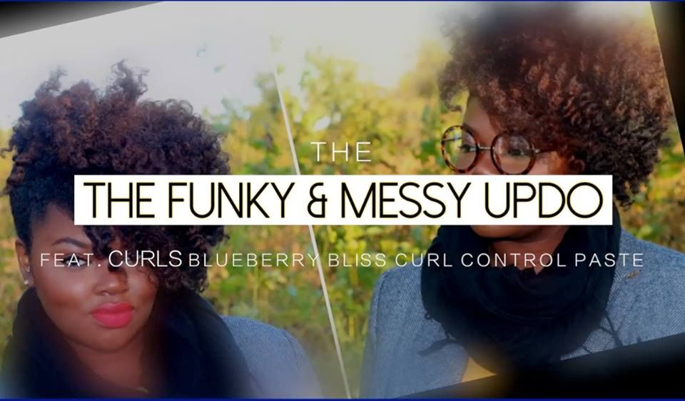 New video available for your viewing pleasure! Check out how I got this quick and easy funky & messy updo using CURLS Blueberry Bliss Curl Control Paste! Enjoy! Curls - Natural Products for Your Natural Hair  https://www.youtube.com/watch?v=FO0gJFtk-7s&list=UU_ntSr05CDWC6bLOoqgMGPQ