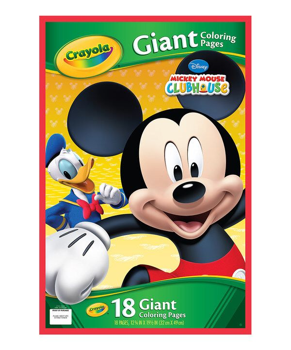 Look At This Mickey Mouse Clubhouse Giant Coloring Pages On Zulily Today Mickey Mouse Minnie Mouse Clubhouse Mickey
