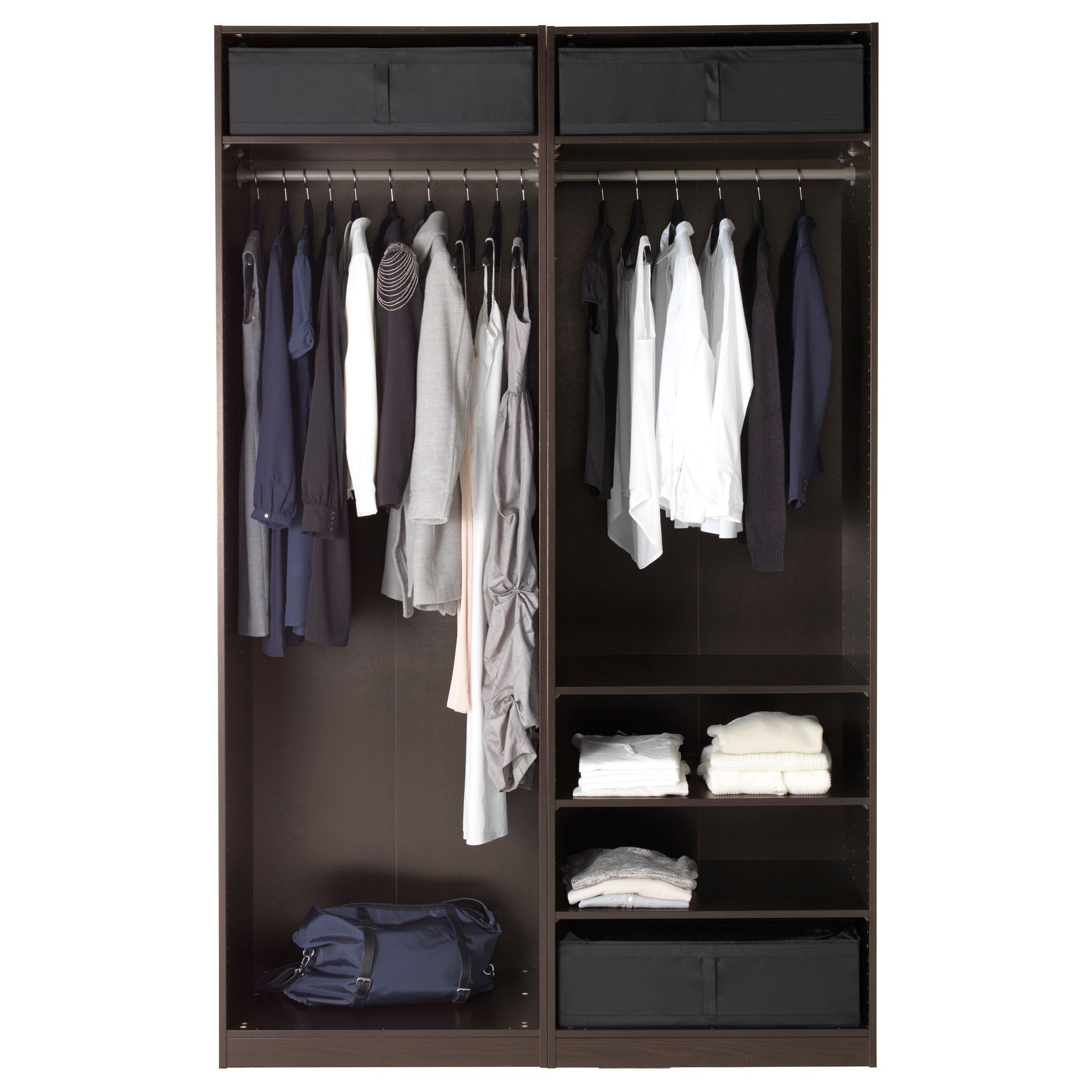 Pax Mehamn Ikea Pax Wardrobe Black Brown Mehamn White In 2019 Products