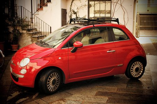 Love The Retro Look Of This Roof Rack With Images Fiat 500