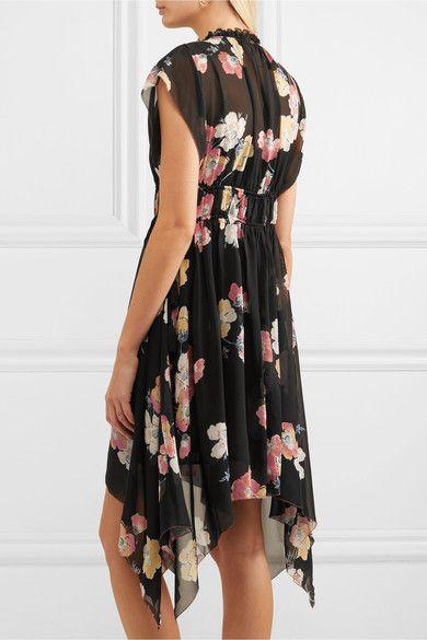 Luisa Floral-print Silk-georgette Mini Dress - Black Ulla Johnson WqI0gKA1a