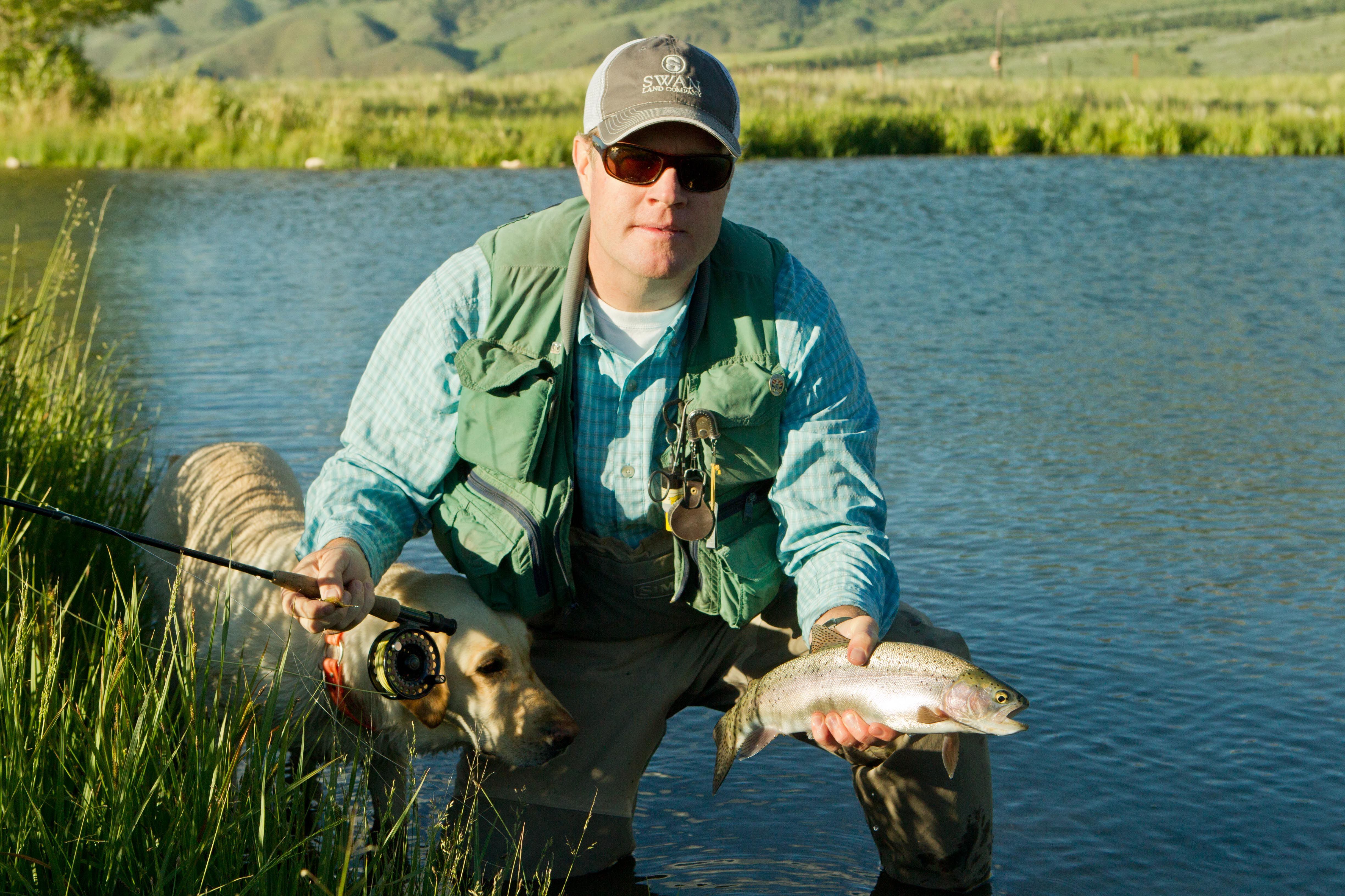 Three ponds with abundant trout on this Montana ranch for