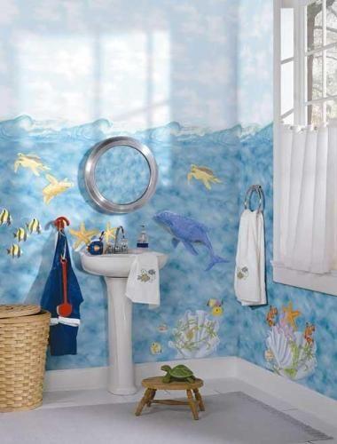 Give A Sea Theme To The Kid S Bathroom Bathroom Themes Ocean