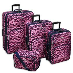 Pink Leopard Suitcase | Luggage And Suitcases