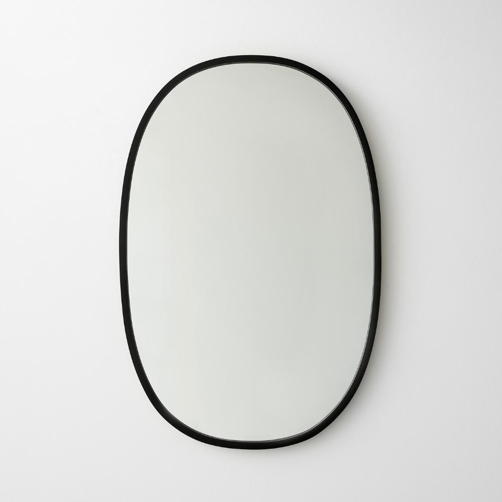 Hub Black Oval Wall Mirror 18 X 24 Oval Mirror Oval Wall Mirror Mirror [ 1000 x 1000 Pixel ]