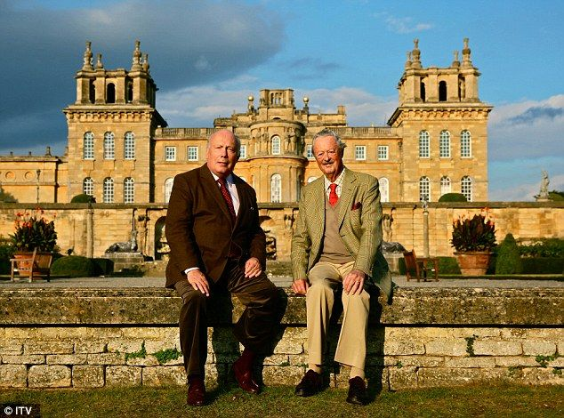 Sir Julian Fellowes (left) with the 11th Duke Of Marlborough John Spencer…