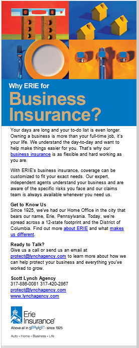 For Your Business Insurance Needs Give Us A Call Erie Insurance