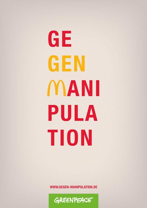 GEGEN MANIPULATION: Plakat-Entwurf für Greenpeace – www.gegen-manipulation.de