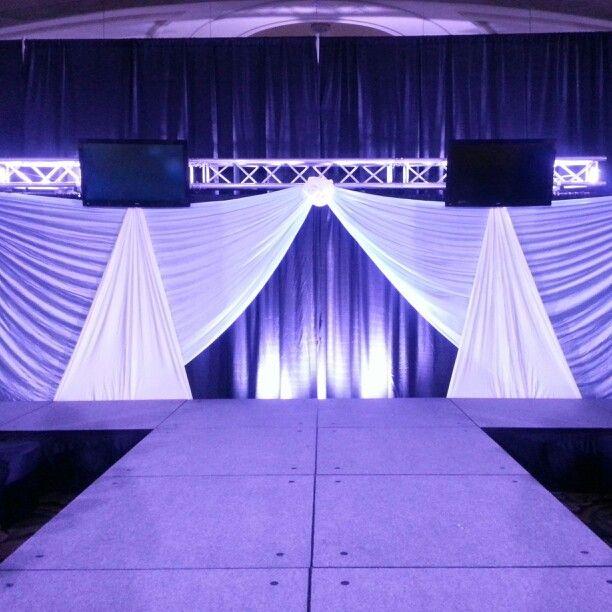 Stage Backdrop | Stage backdrop | Stage design, Event decor