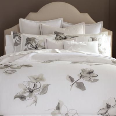 Barbara Barry Melody Collection Bedding Duvet With Taupe Gray