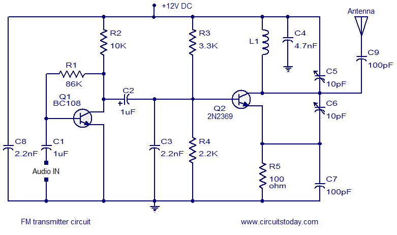 Simple Fm Transmitter Schematic - Wiring Diagram Bookmark on