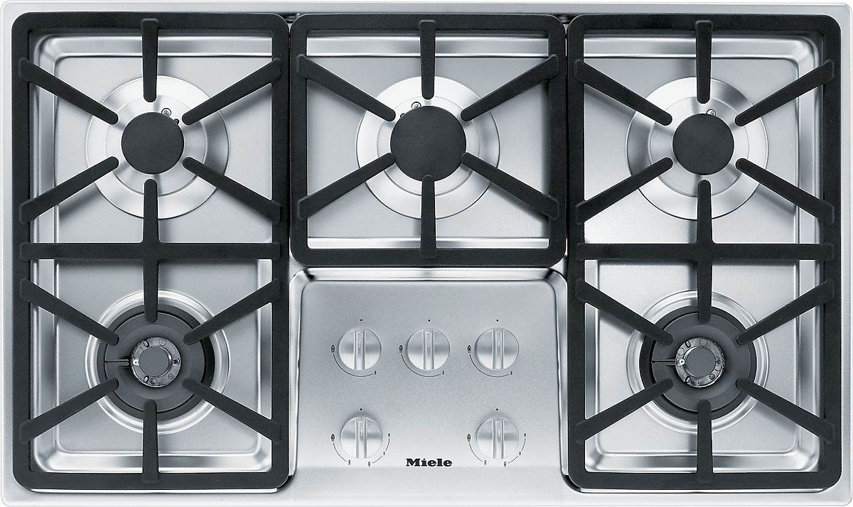 KM 3474 LP Gas cooktop with 2 dual wok burners for
