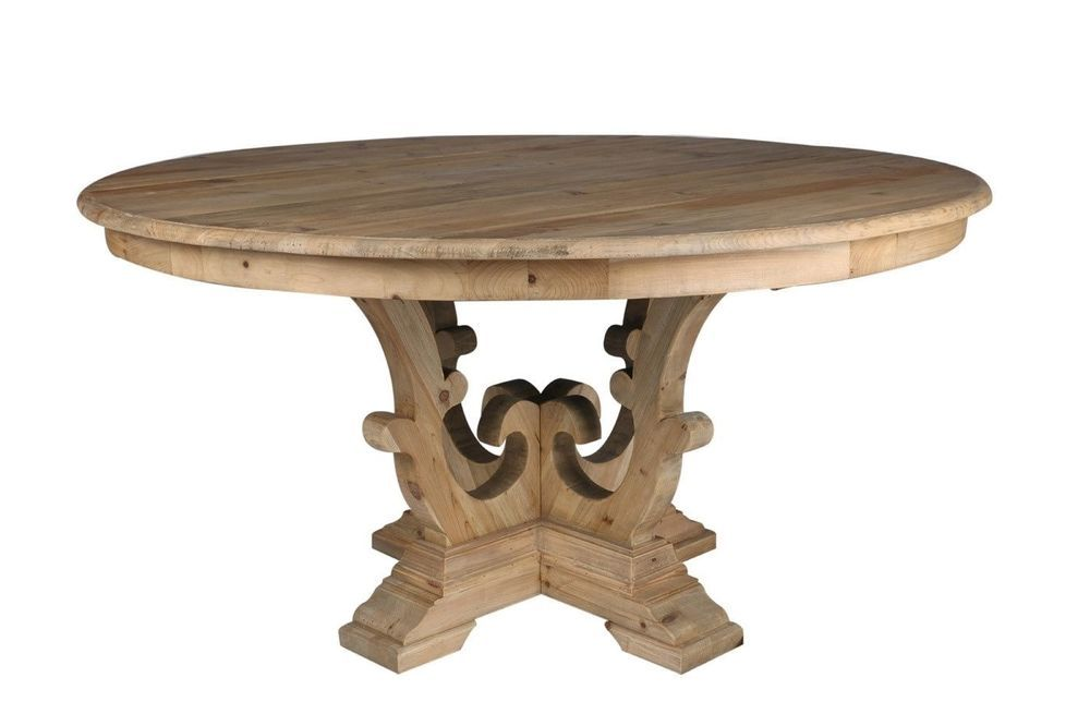Rosaline Round Dining Table Natural Solid Recycled Pine Wood