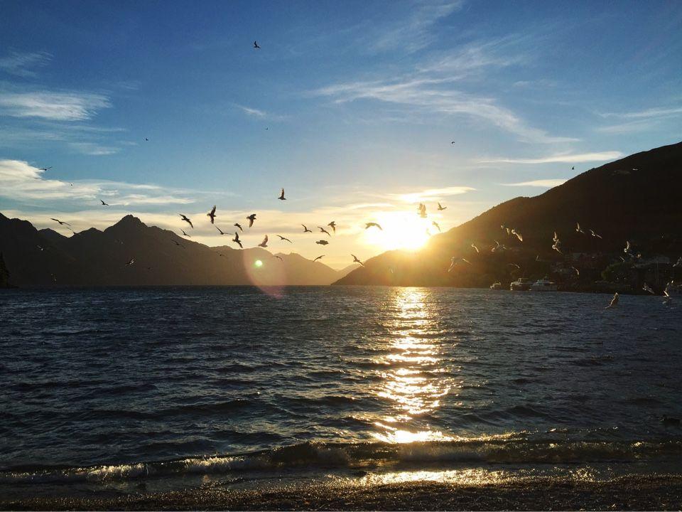 Закаты Новой Зеландии