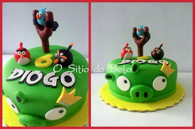 Toppers Personagens Angry Birds: O Sitio Do Bolo: Bolo/cake Angry Birds Para O Diogo
