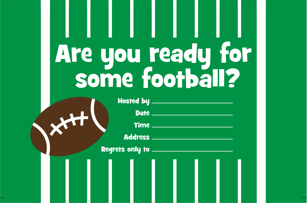 It is a photo of Gorgeous Super Bowl Party Invitations Free Printable